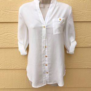 NWT Spense Button Up Blouse